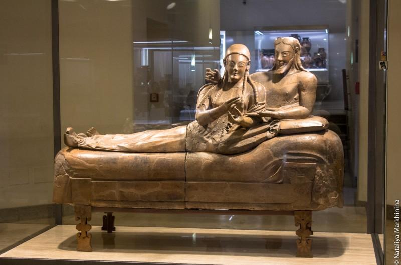 Museo Etrusco. Sarcofago degli Sposi-8283